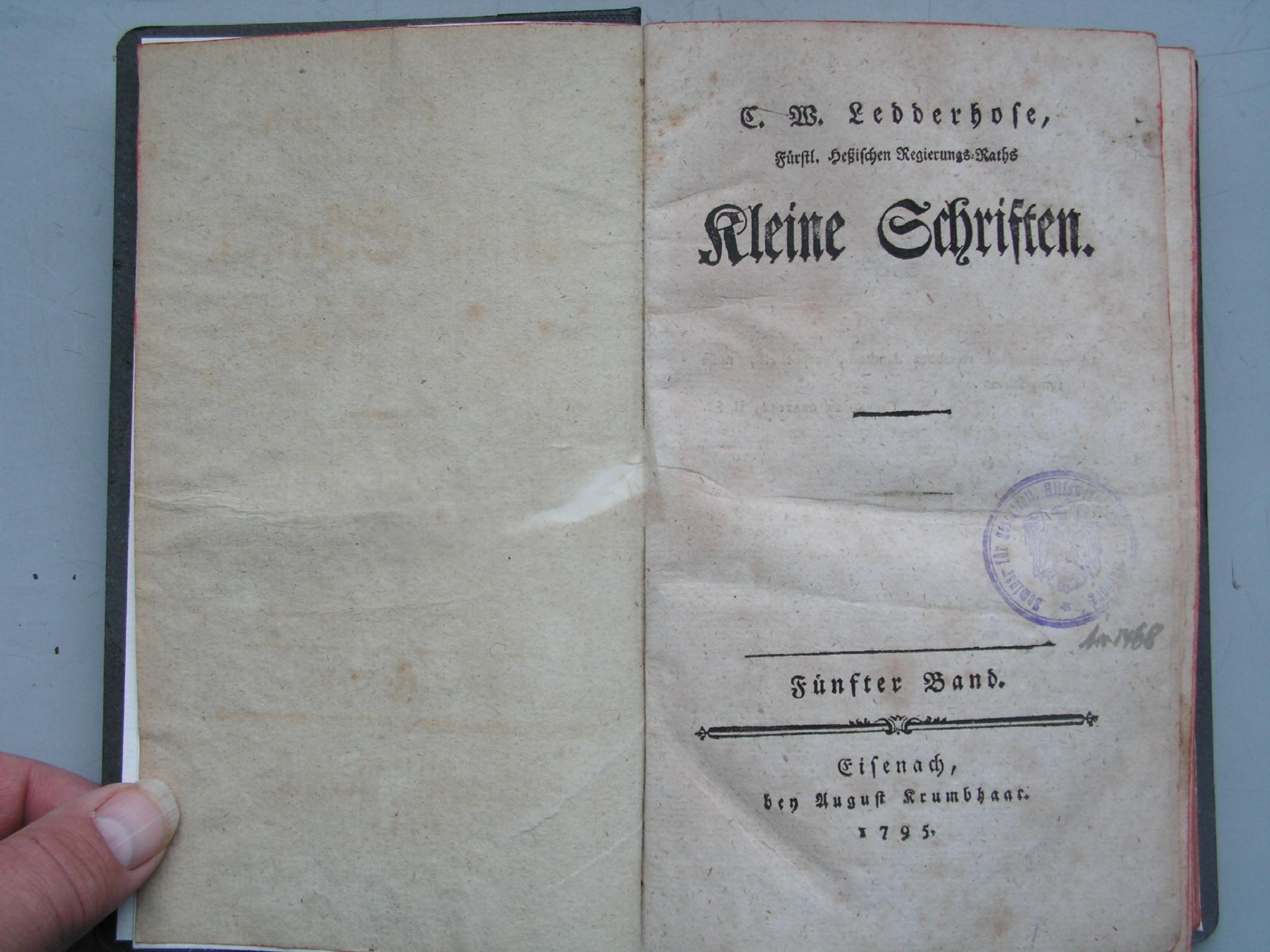 Von der Fräuleinsteuer in Hessen, 1795