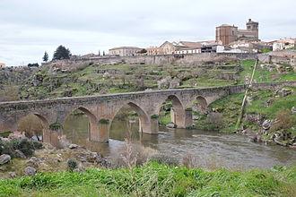 Ledesma, Castile and León - Image: Ledesma Bridge 1623
