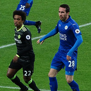 Christian Fuchs - Fuchs in a league match against Chelsea on 14 January 2017