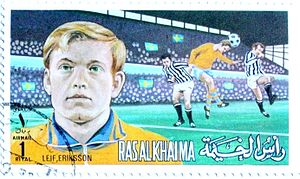 Leif Eriksson (footballer) - Image: Leif Eriksson 1972 Ras al Khaimah stamp