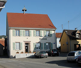 The town hall in Leimbach