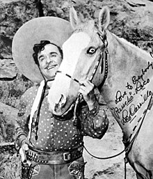 Leo Carrillo as Pancho with his horse Loco from The Cisco Kid TV series