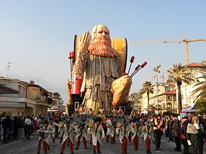Carnival of Viareggio - Viareggio Carnival (Carnevale di Viareggio), which event on February, picture show in 2012