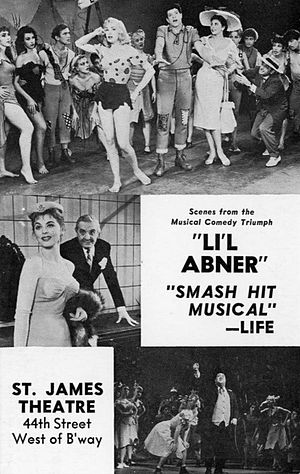 Li'l Abner (musical) - Promotional material for original Broadway production