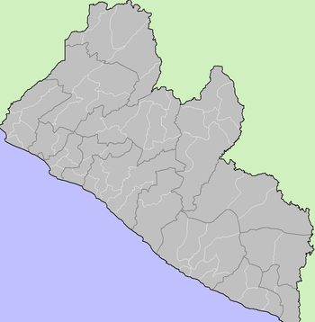 Map of the Districts of Liberia