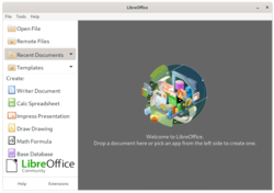 LibreOffice 7.1.2 (released in 2021-04, running on Linux and GNOME with the default icon set).png