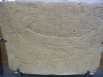Liburna - Battle between Liburnian and Picenian ships from the Novilara tablets (6th/5th century BC)