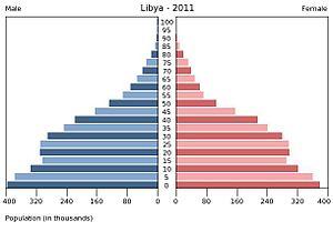 Population pyramid - Image: Libya Population 2011