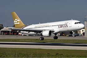 Libyan Airlines Airbus A320 Zammit.jpg