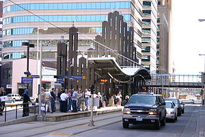 Nicollet Mall (Metro Transit station) - Image: Light Rail Station 9064