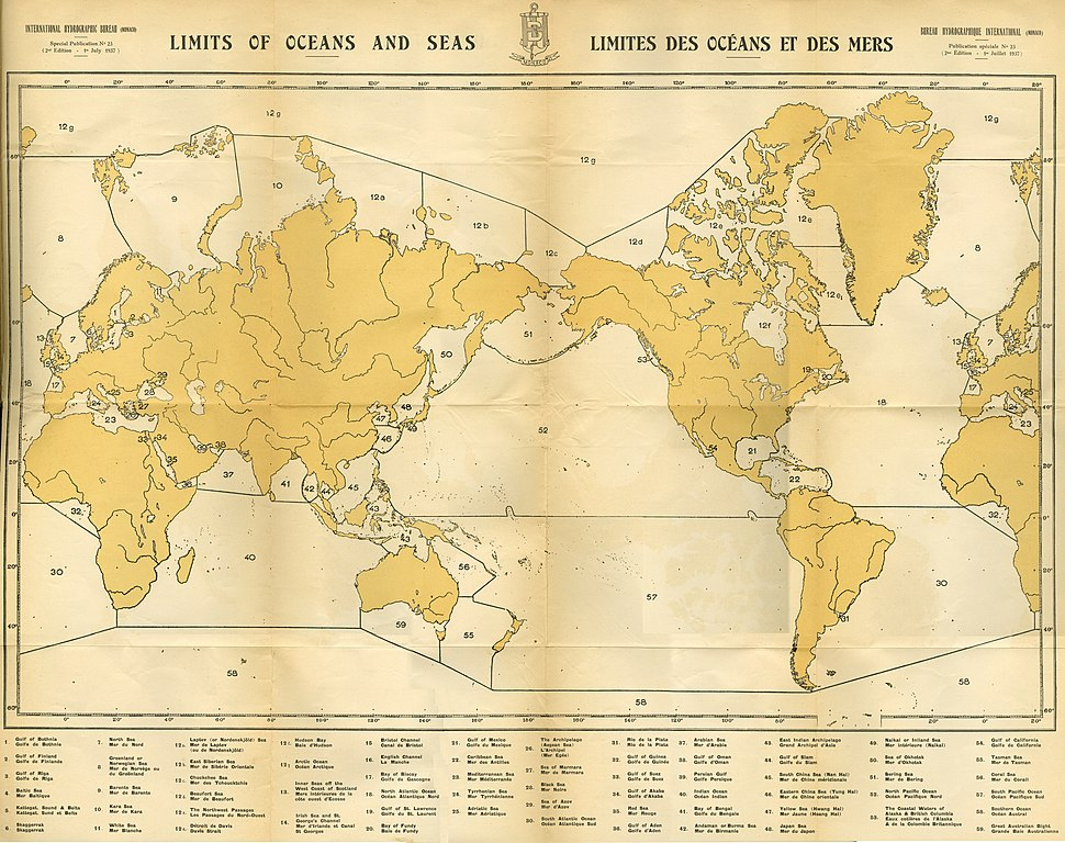 Limit of Oceans and Seas - 2nd Edition - 1st July 1937
