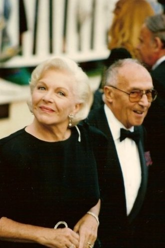 Line Renaud - Line Renaud at the 1990 Cannes Film Festival with husband Loulou Gasté.