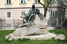 Linz city center - Adalbert Stifter monument 01.jpg