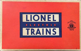 Lionel Corporation - Lionel Corporation logo on a box from the 1950's