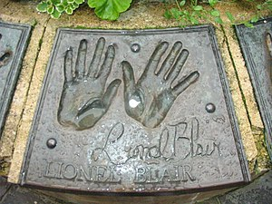Lionel Blair - Lionel Blair's handprints in Bath, UK