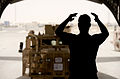 Loading a Mastiff Armoured Vehicle onto a C17 in Afghanistan MOD 45157869.jpg