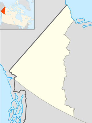 Location map Canada Yukon