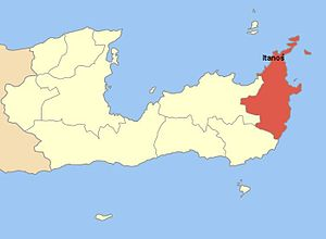 Itanos (city) - Location of the ancient city of Itanos on the map.