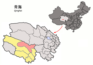 Qumarlêb County - Image: Location of Qumarleb within Qinghai (China)