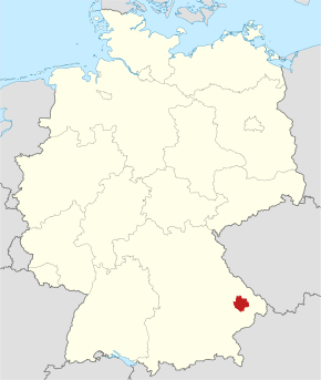 Locator map DEG in Germany.svg