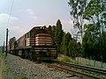 Locomotiva de comboio que passava sentido Guaianã na Variante Boa Vista-Guaianã km 221 em Indaiatuba - panoramio.jpg