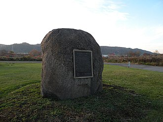 Logstown - The stone marker at or near the former site of Logstown (1725-1758).