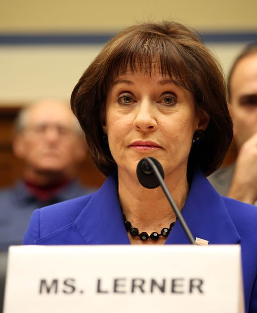 Lois Lerner testifies before the United States House Committee on Oversight and Government Reform in 2014. Lois Lerner testifying before US House Oversight Cmte in 2014.jpg