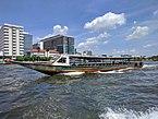 Long motorboat on the Chao Phraya River in Bangkok.jpg