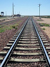 Looking east on the Trans-Australia Railway from Cook, South Australia
