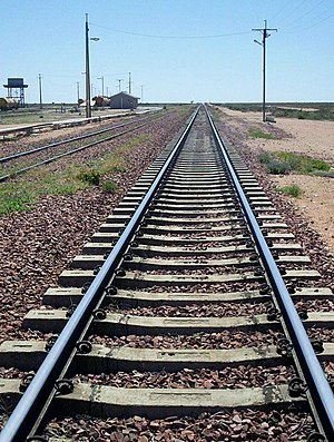 Rail transport in Australia - Looking along the Trans-Australian Railway