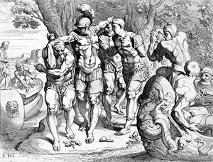 Lotus-eaters - Odysseus removing his men from the company of the lotus-eaters