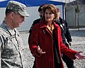 Lt. Gen. Caldwell talks with U.S. Senator Lisa Murkowski during a tour (4278147773).jpg