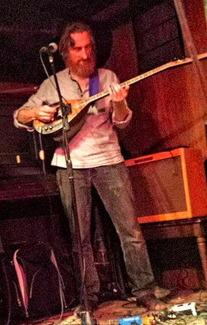 Lu Edmonds - Lu Edmonds performing with the Mekons on July 15, 2015.
