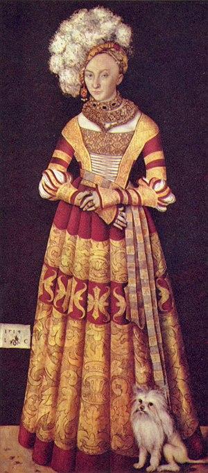 Catherine of Mecklenburg - Portrait of Catherine of Mecklenburg by Lucas Cranach the Elder.