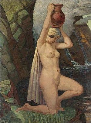 Ludwig von Hofmann - Image: Ludwig von Hofmann Kniende mit Krug 1928
