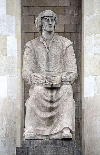 Archivo: Ludwika Nitschowa Pomnik Mikołaja Kopernika Palac Kultury i Nauki.JPG
