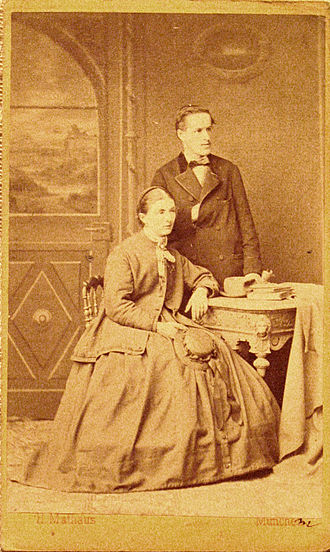 Josef Moroder-Lusenberg - Josef Moroder Lusenberg and wife Annamaria Sanoner