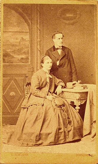 Josef Moroder-Lusenberg - Josef Moroder Lusenberg and wife Annamaria Sanoner