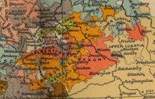 Grafschaft Mansfeld mit Geburts- und Sterbeort Luthers Eisleben (Mitte, links) im Jahre 1519 (Quelle: Wikimedia)