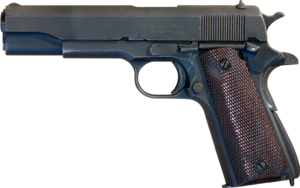 Remington Rand - M1911A1 U.S. Army semi-automatic pistol manufactured by Remington Rand.