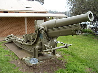 Canon de 155 C modèle 1917 Schneider - No 675, mounted at Tarcutta, New South Wales