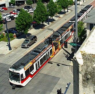 Gordon Faber - MAX Light Rail in downtown Hillsboro