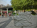 MC 澳門 Macau Tour 官也街 Rua do Cunha old taipa market stone dragon head marble Oct-2013 ZR2.JPG
