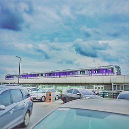 MRT purple line from Central Westgate parking building - panoramio.jpg