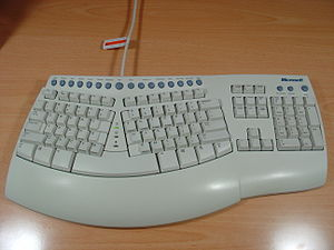 Touch typing - Microsoft Natural Keyboard Pro, circa 1999
