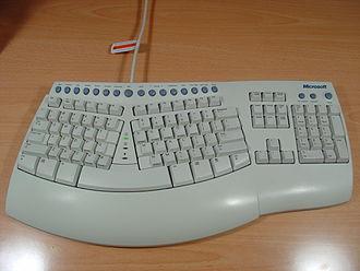 Touch typing - Microsoft Natural Keyboard Pro, circa 1999