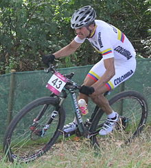 MTB cycling 2012 Olympics M cross-country COL Hector Páez (cropped).jpg