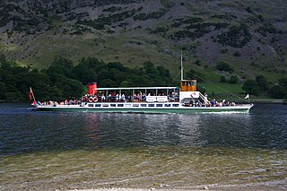 excursion vessel built in 1889 as the SY Raven and still in service on Ullswater in the English Lake District