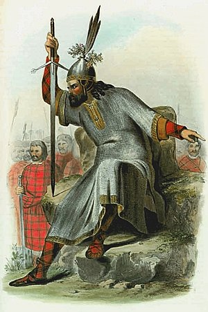 Clan Macdonald of Sleat - R.R. McIan's Victorian era romanticised depiction of a Macdonald, lord of the Isles.