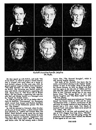 Abbott and Costello Meet Dr. Jekyll and Mr. Hyde - 1963 mgazine article depicting Dr. Jekyll's transformation into Mr. Hyde.
